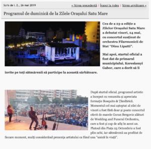 Programul de duminica de la Zilele Orasului Satu Mare (informatia-zilei.ro)