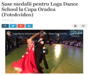 Sase medalii pentru Loga Dance School la Cupa Oradea. (satmareanul.net)