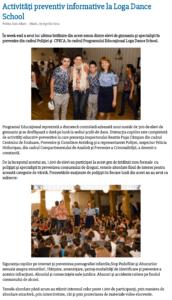 Activitati preventiv informative la Loga Dance School (satumareonline.ro)