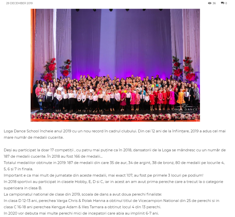 GALA Loga Dance School - Aniversare 12 ani! (gazetanord-vest.ro)
