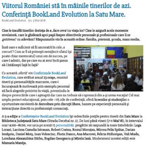 Conferinta BookLand Evolution la Satu Mare (satumareonline.ro)