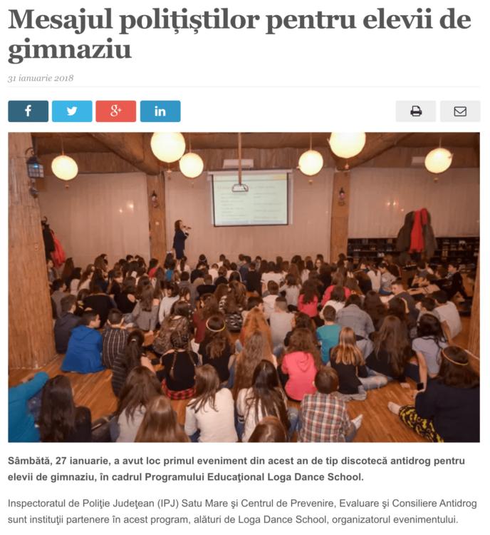 Mesajul politistilor pentru elevii de gimnaziu (satmareanul.net)