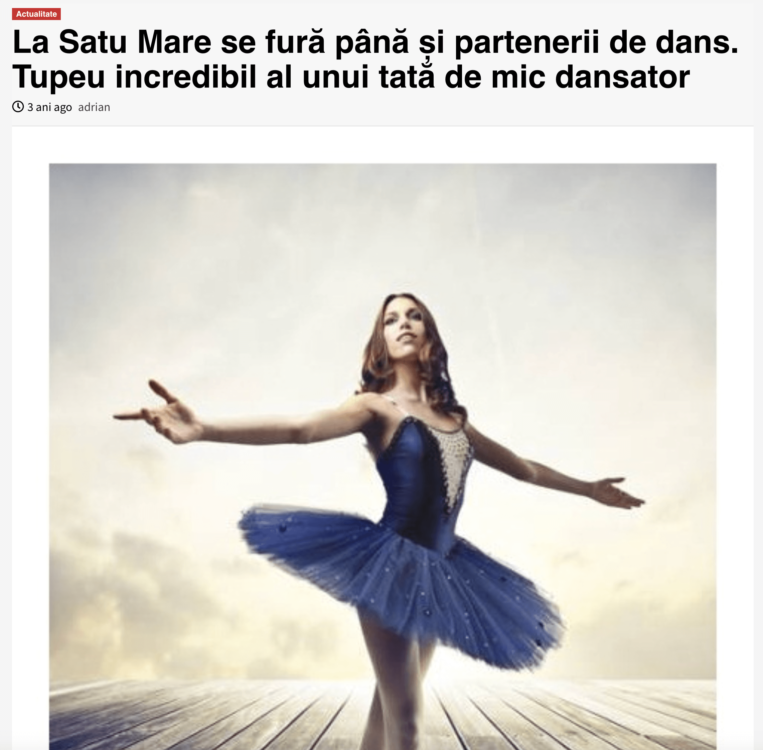 La Satu Mare se fura pana si partenerii de dans. (obiectiv-sm.ro)