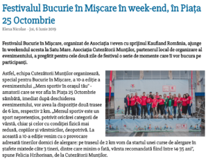 Festivalul Bucurie in Miscare in week-end, in Piata 25 Octombrie (satumareonline.ro)