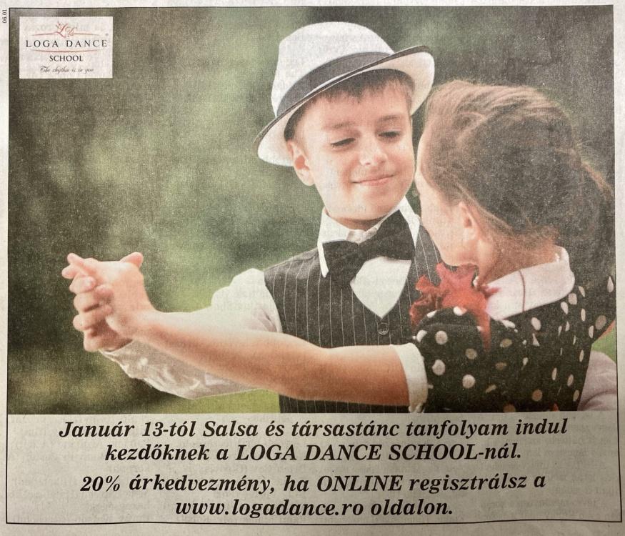 Januar 13-tol Salsa es tarsastanc tanfolyam indul a Loga Dance School-nal. (Friss Ujsag)