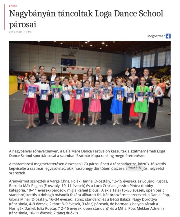 Nagybanyan tancoltak Loga Dance School parosai (frissujsag.ro)