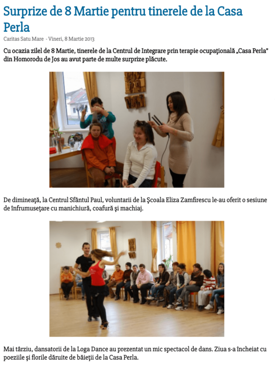 Surprize de 8 Martie pentru tinerele de la Casa Perla (satumareonline.ro)