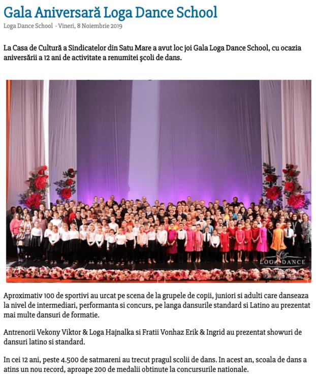 Gala Aniversara Loga Dance School 2019 (satumareonline.ro)