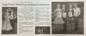Loga Dance School pe podium la Debrecen (Gazeta de Nord Vest)
