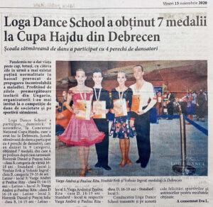 Loga Dance School a obtinut 7 medalii la Cupa Hajdu din Debrecen (Informatia Zilei)